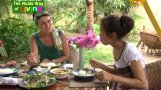 Vegetarian Peace Café: Garden of Serenity in Siem Reap, Cambodia (In Khmer)