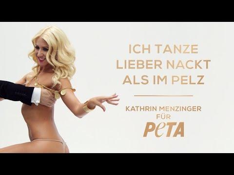 Kathrin Menzinger tanzt lieber nackt als im Pelz / PETA