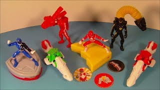 2005 POWER RANGERS SET OF 6 McDONALD'S HAPPY MEAL KID'S TOY'S VIDEO REVIEW