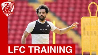 Liverpool FC training at Anfield ahead of Champions League final
