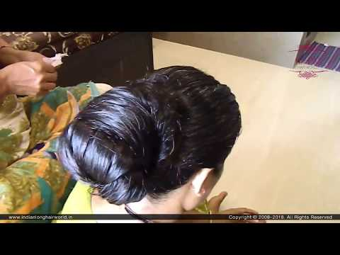 Xxx Mp4 Easy Amp Simple Indian Classic Knot Bun Indian Hair Bun Oiled Hair Bun Hair Bun Hairstyle 3gp Sex