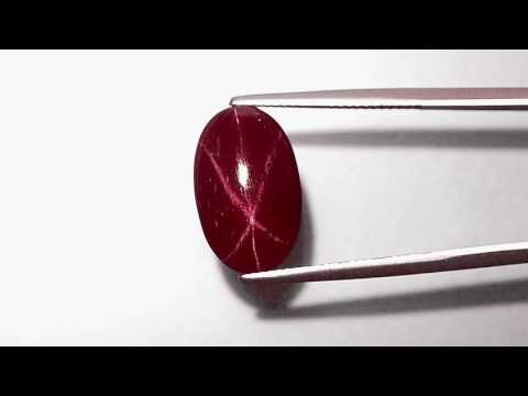 7.77-Carat Lovely Deep Magenta Red Star Ruby from Vietnam (GRS)