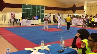 Taekwondo Sukipt 2018- Shedric Reyhant Vs Aliff Haikal
