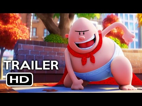 Captain Underpants The First Epic Movie Trailer 1 2017 Kevin Hart Ed Helms Animated Movie HD