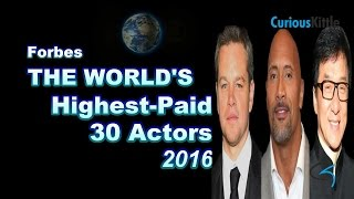 Top 30 World Highest-Paid Male-Female Actors 2016  |