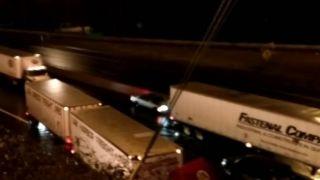 Stunning chain-reaction crash caught on camera
