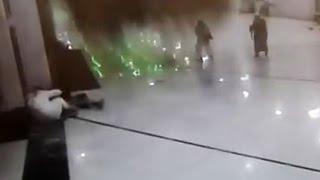 """""""صحافة المواطن"""": لقطات من زاوية جديدة لسقوط رافعه الحرم المكى"""