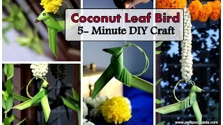 How to make Coconut leaf parrot | Bird | Type-1