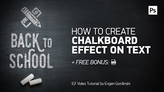 Chalkboard Effect on Text + FREE Psd - Photoshop Tutorial