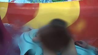 Purple slide at Fallsview water park