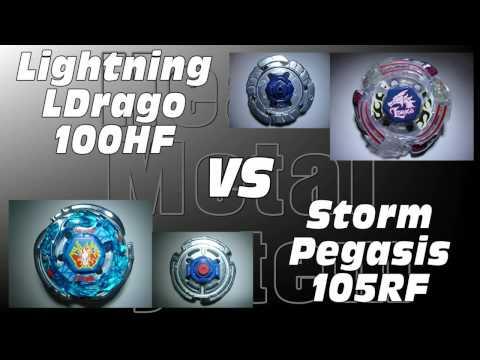 Lightning LDrago 100HF VS Storm Pegasis 105RF AMVBB Beyblade Battle
