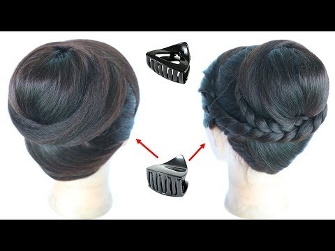 2 Cute And Beautiful Juda Hairstyle With Using Clutcher
