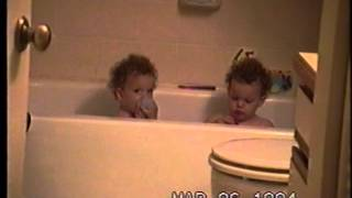 Roman twins in the bath   Dont Drink The Water
