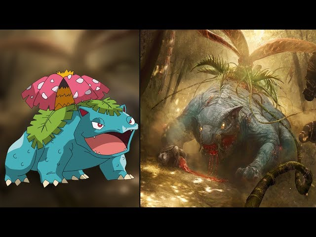 Pokemon Characters as Monsters 2017! 😱