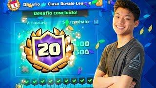 COMPLETEI O DESAFIO DAS 20 VITÓRIAS!!?? CLASH ROYALE