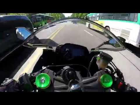Ninja ZX-6R TCS,ABS 작동!!