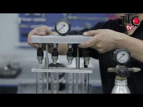 Limpieza de inyectores en un motor naftero