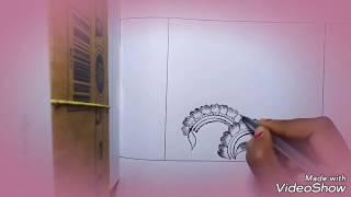 diwali alpana/আলপনা/Beautiful mahedi design on paper.|আলপনার নকশা।/excellent design on paper|