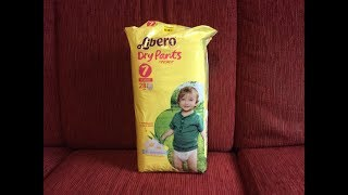 Распаковка - подгузники-трусики Libero Dry Pants 7 из Rozetka.com.ua