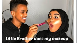 MY BROTHER DOES MY MAKEUP| SOMALI EDITION |Edna Abdiasis