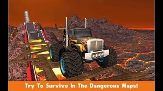 Monster Trucks X Mega Bus Race / 4x4 Real Monster Truck Games / Android Gameplay Video
