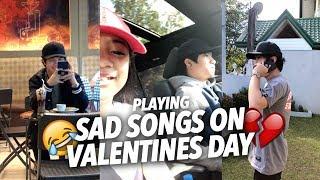 SAD SONGS ON VALENTINES DAY (Teasing Single Bro)   Ranz and Niana
