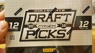 2016 Panini Prizm Collegiate Draft Pick Football Hobby Box. 5 Autos per Box