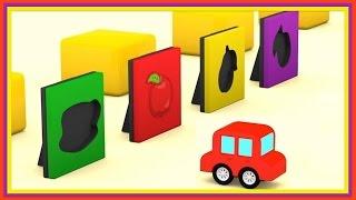WHICH FRUIT? Cartoon Cars - Jigsaw CHALLENGE! - Kid