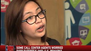 Some call center workers worried over Duterte's remarks