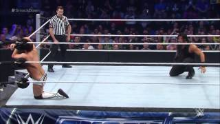 Roman Reigns vs  The Miz  SmackDown  February 05  2015