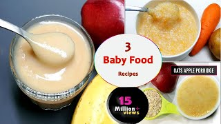 3 Baby food recipes    7 to 12 months baby food    Healthy & tasty baby food
