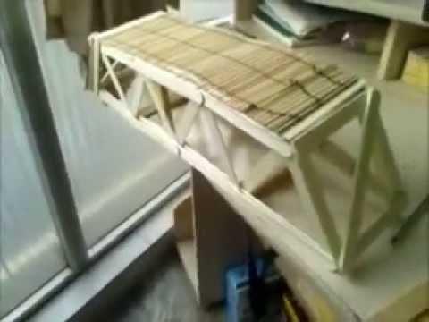 Puente con palos de helado.