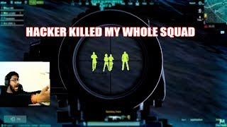 HACKER KILLED MY WHOLE SQUAD THEN I TROLLED HIM😂 || FUNNY VOICE CHAT || pubg mobile
