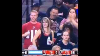 Girl Grabs Boyfriend's Dick At Falcons Game!