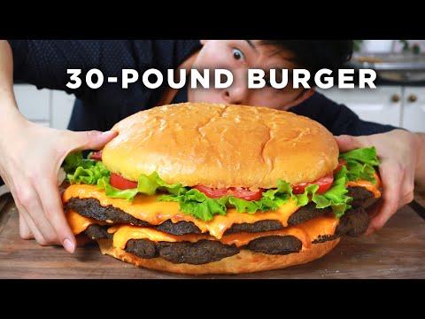 I Made A Giant 30 Pound Burger