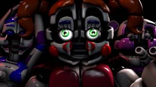 Animatronics Reaction - Sister Location VS  Five Nights's at Freddy's