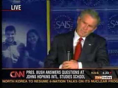 George W Bush Dodges Question