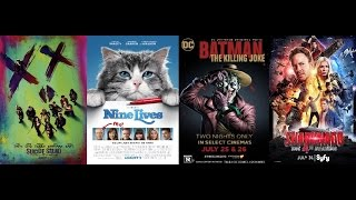 AJ's Movie Reviews: Suicide Squad, Nine Lives, The Killing Joke & Sharknado 4(8-5-16)