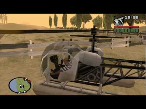 GTA San Andreas 27 Bullying dos helicópteros