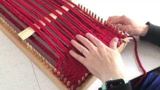 How to Weave a Scarf on the CraftSanity Kindred Scarf Loom