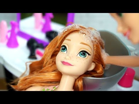 Xxx Mp4 Rapunzel Barbie Beauty Salon Makeover Hair Style On Frozen Anna Disney Princess Dolls 3gp Sex