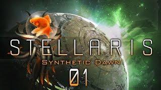 STELLARIS 1.8.1 beta #01 GOLDFISH IN SPACE Stellaris Synthetic Dawn DLC - Let
