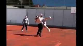 7 Foot Tall Street Fighter Vs  TKD Guy! EPIC MMA FIGHT!