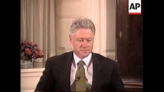 USA: PRESIDENT CLINTON LEWINSKY TESTIMONY VIDEO HIGHLIGHTS
