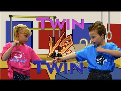 Sister vs Brother Twin Gymnastics