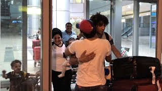 «النني» يصل مطار القاهرة بصحبة عائلته.. ووالده: «طول عمري وش السعد عليه»
