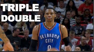 Russell Westbrook Posts 29/17/11 Triple Double | 12.27.16