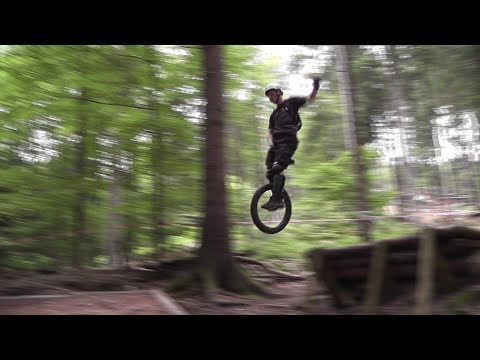 Extreme Unicycling Downhill In Bikepark Bad Wildbad
