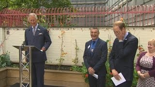 Prince Charles jokes with William after being described as