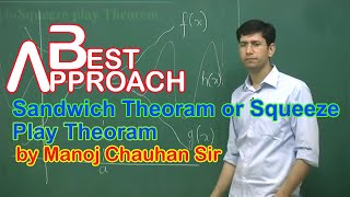 Maths IIT Sandwich Theoram or Squeeze Play Theoram by Manoj Chauhan Sir